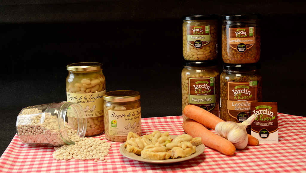 Conserves de légumes et mogette